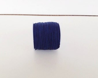 navy blue Chinese Knotting Cord,  0.8 mm Jewelry cord, bracelet cord, Necklace cord, nylon beading Cord, 11 yards (10 meters), cord string