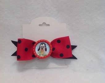 Grosgrain Ribbon/Red Polka Dot Grosgrain Ribbon/Girls Hair Bow/Goofy Hair Bow