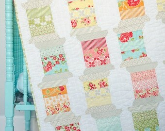 Spools Quilt Pattern - 2 Sizes Available - TB154 - Thimble Blossoms by Camille Roskelley of Bonnie & Camille - April Showers Fabrics