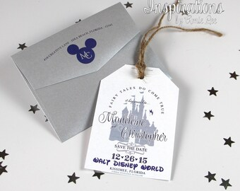 Disney Save the Dates, SaveThe Dates, Luggage Tag Save The Dates