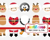 Bottle Cap Image Sheet - Instant Download - Christmas 10 -  1 Inch Digital Collage - Buy 2 Get 1 Free
