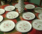 "Shenango China 12 Days of Christmas 10"" Collector Plates Complete Set of 12 By Dick Litzel"