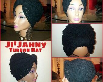 The JI'JAHNY Knit & Crochet Turban Hat - Made-to-Order