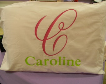 Name / Initial Pillow Case Cover