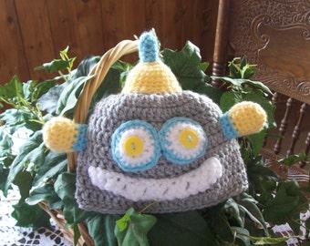 Crocheted,Robot,Baby,Boys,Girls,Photo Prop,Gift,6-12 Months,Hat,Babies,Shower