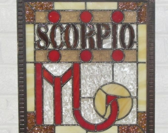 Stained Glass Scorpio Panel