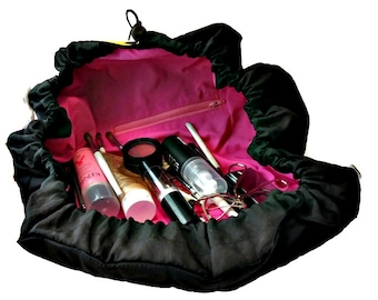 Travel Tray and Case, Make-up Cosmetic Bag , Cinch Sack for Gear