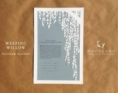 papercut ketubah | wedding vows | Weeping Willow