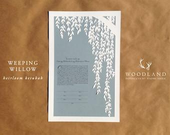 Weeping Willow Ketubah heirloom papercut
