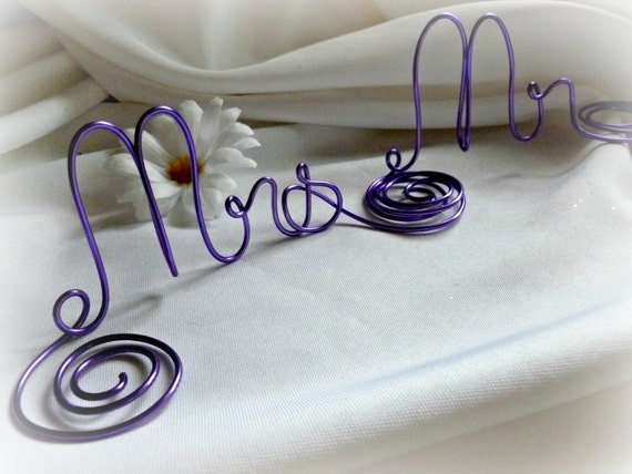 Wedding Decorations, Mr Mrs Signs, Sweetheart Table Decor,  Pick Color