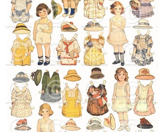 Printable Paper Dolls from the 1940s.  Instant Download and Print!