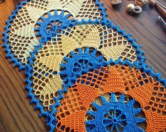 Doily Set / Home Decoration / Round Placemat / Lace Centerpiece / Tabletop Decor/Wedding Decor /Fiber Art