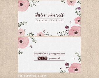 elegant business cards - thick, color both sides - FREE UPS ground shipping