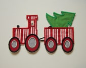 Christmas tractor or train patch