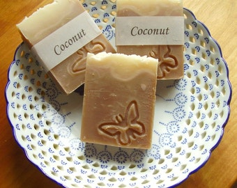 Coconut Soap -  Handmade soap with Shea and Cocoa Butter -  Handmade in BC, Canada