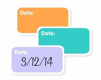 Write-On Mini Date Labels