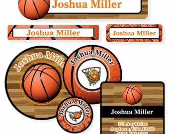 School Label Pack, Basketball