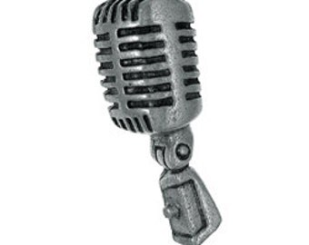 Microphone Lapel Pin - CC529- Broadcast and Radio Pins