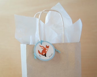 Fox and Snowflake 8 Gift tags