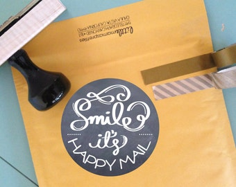 Packaging Sticker, Happy Mail Packaging Tags