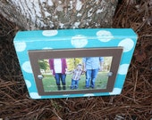 Unique Gift, Distressed Picture Frame, Tabletop Frame, Perfect Teacher Gift, Turquoise Frame, 4x6 Frame