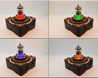 Triode Radio Vacuum Tube Hi-Speed 4 ports USB 3.0  HUB Splitter. Steampunk/Industrial Mens Gift Present !!! Free shipping !!!