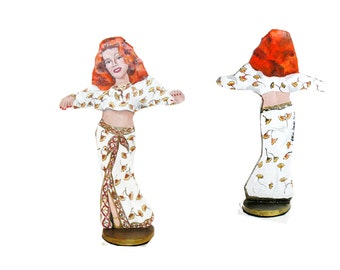 Rita Hayworth Gilda Hand Painted 2 D Art Figurine