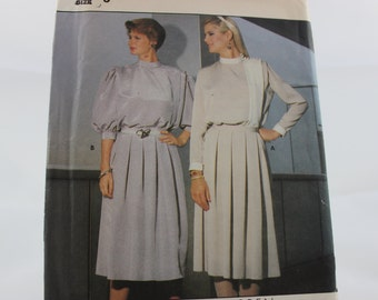 Vintage Butterick Richard Warren Sewing Pattern 6290 Misses' 1980's Top and Skirt Size 8 Uncut