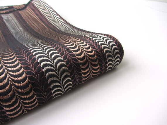 Brown copper silver heavy Indian silk brocade fat quarter nr. 42