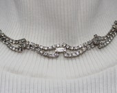 Vintage Crystal Rhinestone Necklace
