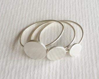 Sterling silver circle stacking rings