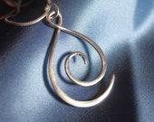 Wave necklace - silver wave necklace - Swirl necklace- Sterling Silver - wave - silver necklace - ocean jewellery