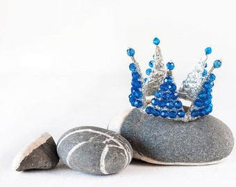 Blue princess crown, Kids photoshoot accessories, Photo prop, Birthday crown, Crown hair accessories, Childrens crown,Party birthday outfit.