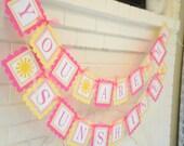 You are my sunshine-Little Miss Sunshine-Sunshine theme birthday banner-You are my Sunshine-