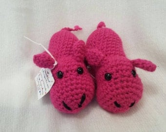 Crochet Hippo. Multiple Color choices