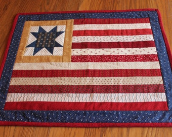 Wall Hanging - Fouth of July- American Flag -Wallhanging- Handmade Wall Quilt