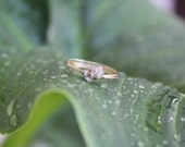 Raw Diamond Chip Ring