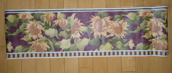 """Wallpaper Border - Brewsters, Borders & Company III, BC48029B, Sunflowers, 8.5"""" x 5 Yards, Pre-pasted, Washable, Strippable"""