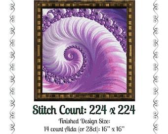 Fractal Cross Stitch Pattern 4987 Patterns Instant Download pdf Cross Stitch Design