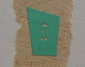 GOLF CARD Handmade Blank Card Golf cut out, men, unisex card