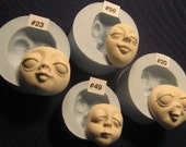 YOUR CHOICE - Soft Flexible Food Grade Silicone Mold Mould Doll Face Female Cab by Art of Two M's