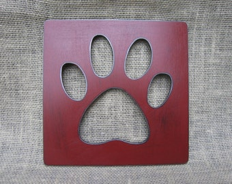 Paw Cut Out Sign