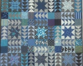 PDF Quilt Pattern -- Digital Pattern for Black and White and Blue All Over wall quilt (pdf)