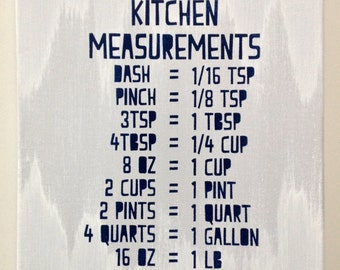 Kitchen Measurements - Made to Order