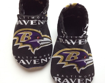 Baltimore Ravens Cloth Baby Booties