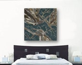 Dining room wall art living room decor extra LARGE blue brown abstract tree art canvas print modern artwork bedroom wall decor wholesale