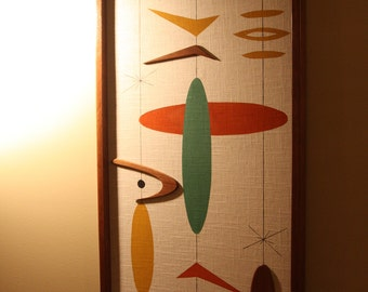 Mid Century Modern Witco Madmen Atomic Abstract Wall Art Sculpture Painting Tiki Retro Eames Era