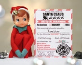 Naughty & Nice, Warning and Reward Christmas Elf letter -  Instant Printable Note Cards