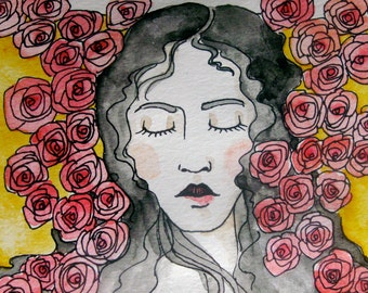 Bouquets of Dreaming Original Watercolor and Ink