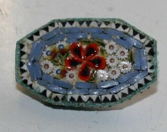 Italian Mosaic Millefiori Victorian Brooch